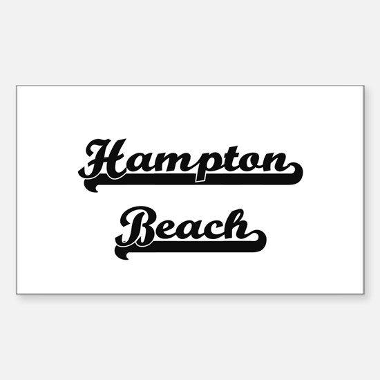 Hampton Beach Classic Retro Design Decal