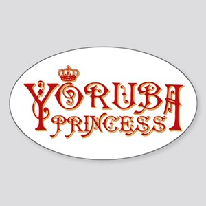 Yoruba Princess Oval Sticker