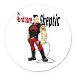 Hardcore Skeptic Round Car Magnet