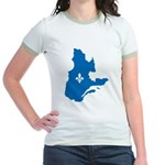 Map with Official Color Jr. Ringer T-Shirt