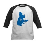 Map with Official Color Kids Baseball Jersey