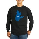 Map with Official Color Long Sleeve Dark T-Shirt