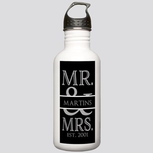 Black and Silver Mr. Stainless Water Bottle 1.0L
