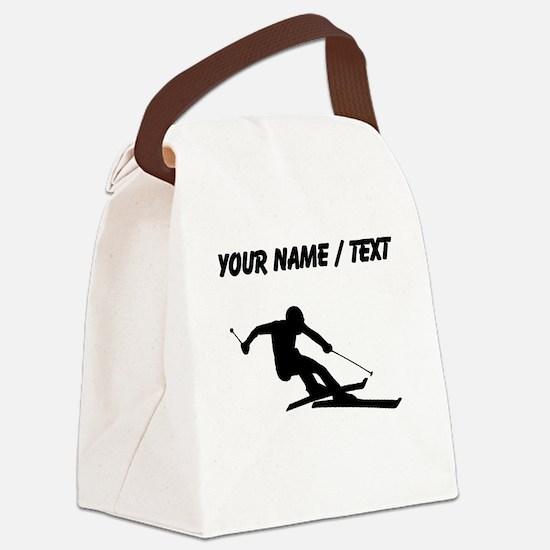 Skier (Custom) Canvas Lunch Bag