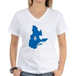 Map with Official Color Women's V-Neck T-Shirt