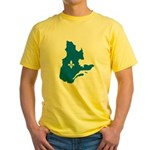 Map with Official Color Yellow T-Shirt