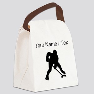 Hockey Player (Custom) Canvas Lunch Bag