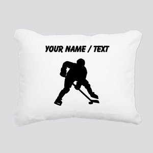 Hockey Player (Custom) Rectangular Canvas Pillow