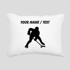 Hockey Player (Custom) Rectangular Canvas Pillow