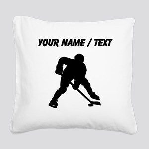 Hockey Player (Custom) Square Canvas Pillow