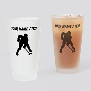 Hockey Player (Custom) Drinking Glass