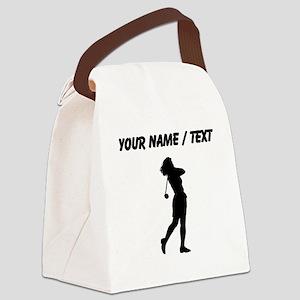 Woman Golfer (Custom) Canvas Lunch Bag