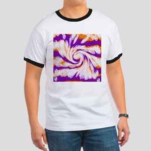 Purple Orange Bright Tie Dye Swirl T-Shirt