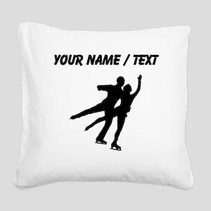 Figure Skaters (Custom) Square Canvas Pillow