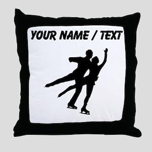 Figure Skaters (Custom) Throw Pillow