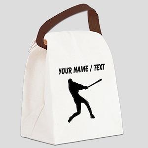 Baseball Player (Custom) Canvas Lunch Bag