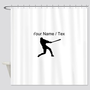 Baseball Player (Custom) Shower Curtain