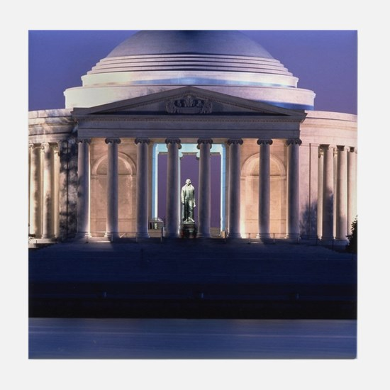 Thomas Jefferson Memorial at Dusk Tile Coaster