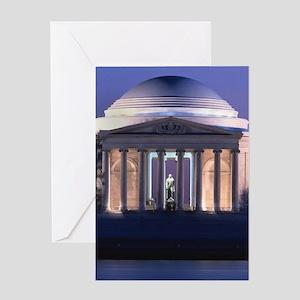Thomas Jefferson Memorial at Dusk Greeting Cards