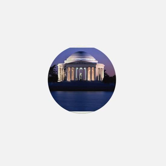 Thomas Jefferson Memorial at Dusk Mini Button