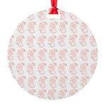 Pygmy Seahorse Pattern Ornament