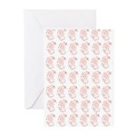 Pygmy Seahorse Pattern Greeting Cards