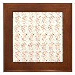 Pygmy Seahorse Pattern Framed Tile