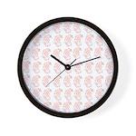 Pygmy Seahorse Pattern Wall Clock