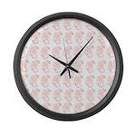 Pygmy Seahorse Pattern Large Wall Clock