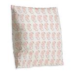 Pygmy Seahorse Pattern Burlap Throw Pillow