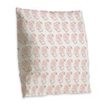 Pygmy Seahorse Pattern Burlap Throw Pillow