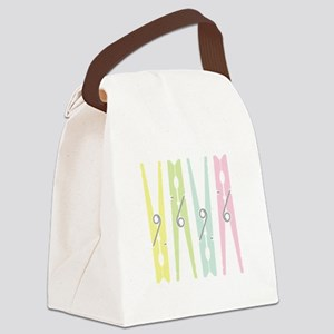 Laundry Clothespins Canvas Lunch Bag