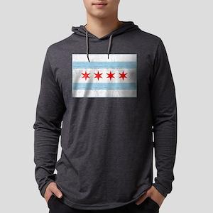 Chicago Flag Mens Hooded Shirt