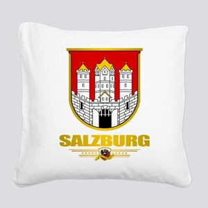 City of Salzburg Square Canvas Pillow