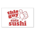 This Guy Eats Sushi Sticker