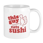 This Guy Eats Sushi Mugs