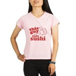 This Guy Eats Sushi Performance Dry T-Shirt