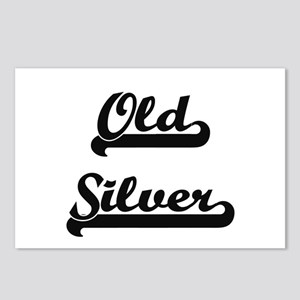 Old Silver Classic Retro Postcards (Package of 8)