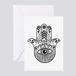 Hamsa Hand - Black Greeting Cards (Pk of 10)