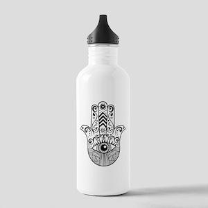 Hamsa Hand - Black Stainless Water Bottle 1.0L