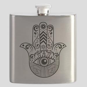 Hamsa Hand - Black Flask