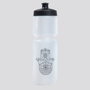 Hamsa Hand - Black Sports Bottle