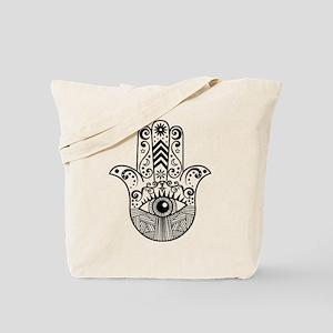 Hamsa Hand - Black Tote Bag