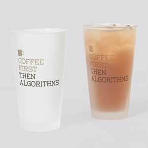 Coffee Then Algorithms Drinking Glass