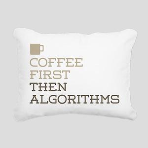 Coffee Then Algorithms Rectangular Canvas Pillow