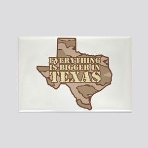 Everything Is Bigger In Texas Rectangle Magnet