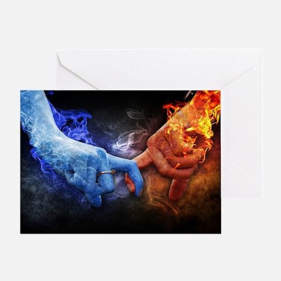 Cute Blue flame Greeting Card