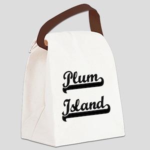 Plum Island Classic Retro Design Canvas Lunch Bag