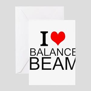 I Love Balance Beam Greeting Cards