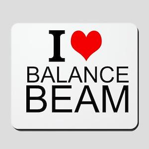 I Love Balance Beam Mousepad